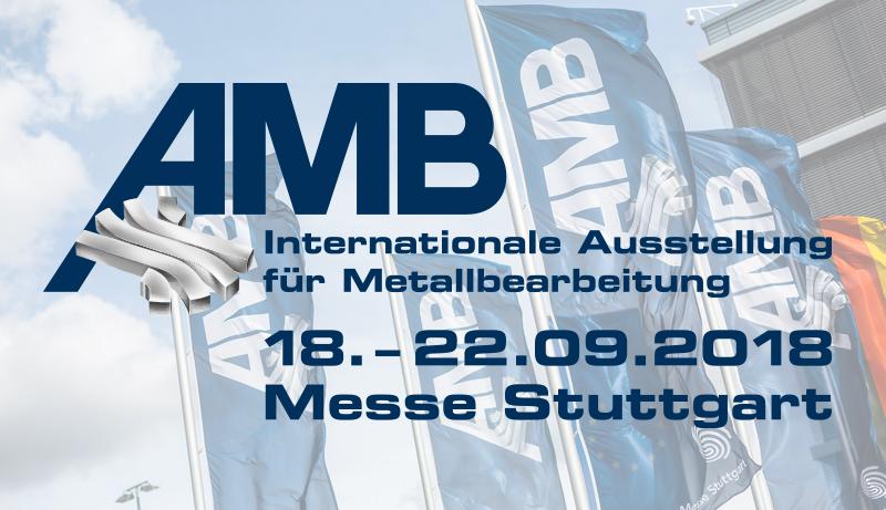 Das Logo der Messe AMB in Stuttgart.