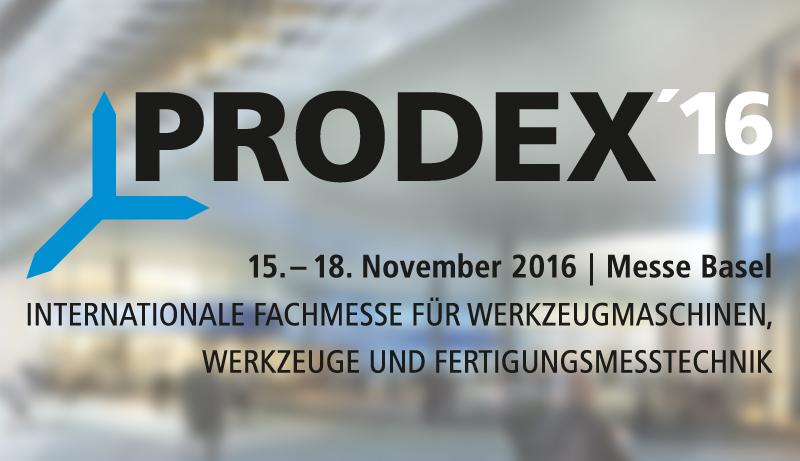 Das Logo der Messe PRODEX in Basel.