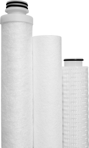 Drei verschiedene Filterkerzen