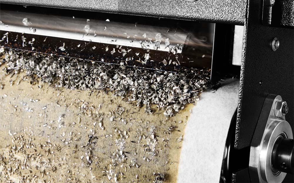 Der Hochleistungsfilter HLF ohne Tank mit Filtervlies von vorne fotografiert.