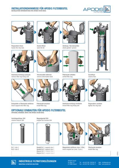 Installationshinweise - Filterbeutel